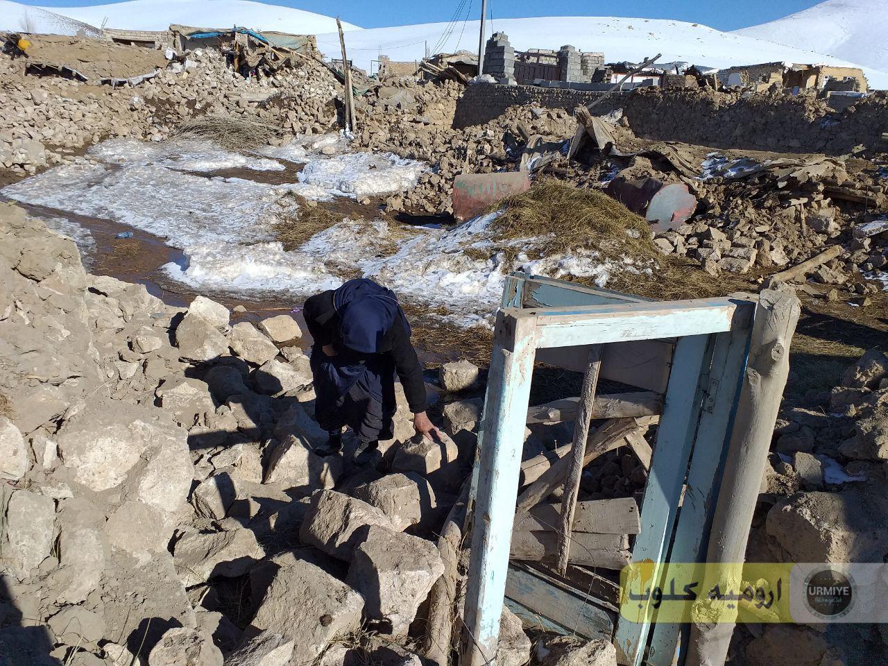 گزارش تصویری ارومیه کلوب از عمق خسارت زلزله به مناطق روستای قطور خوی